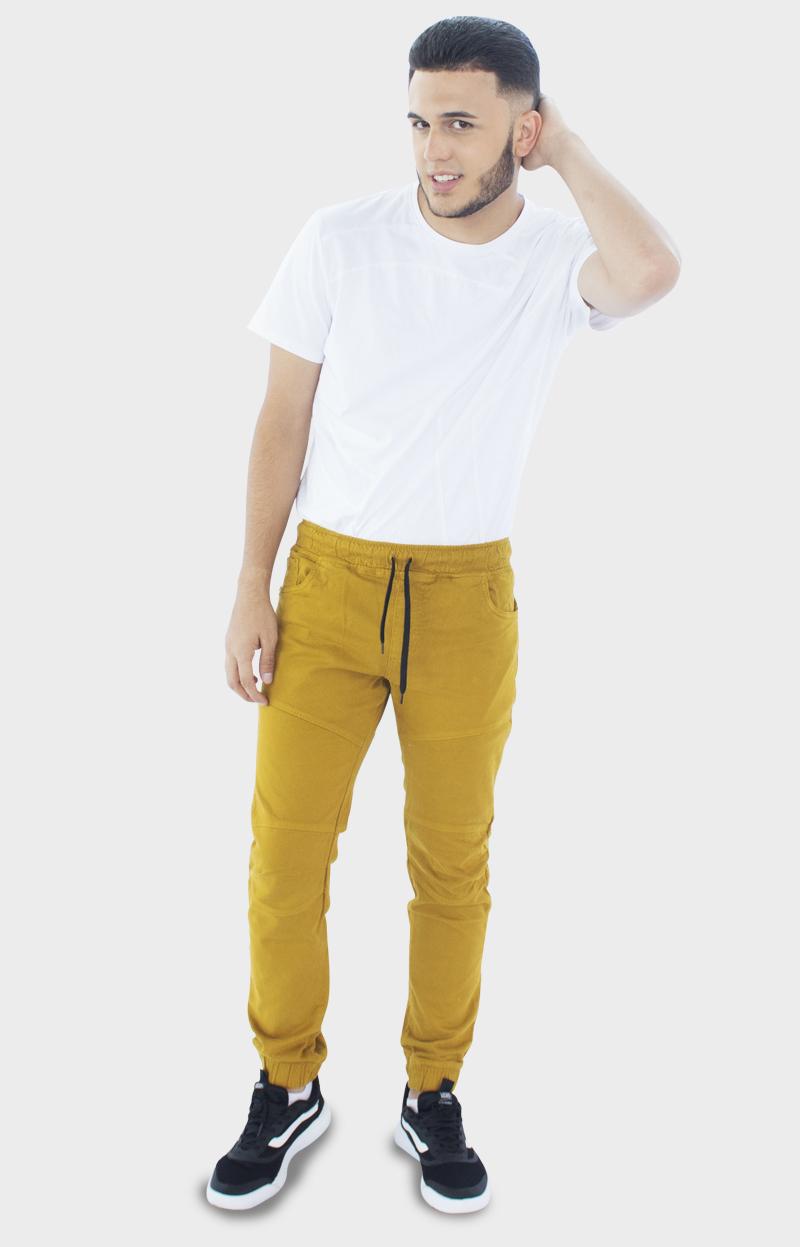 Pantalón jogger mostaza para hombre | Ropa para hombre ...
