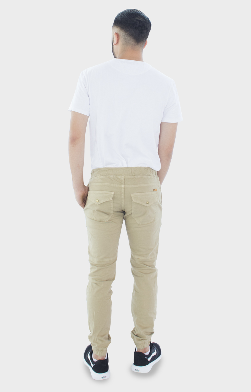 Pantalón jogger beige para hombre | Ropa para hombre Medellín