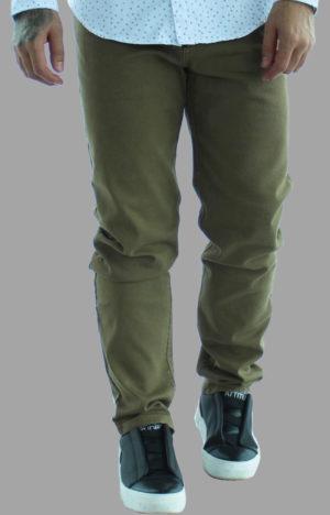 Pantalon drill caqui - vista frontal